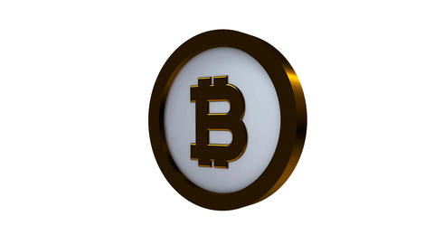 Rotating Bitcoin on a white background 画像