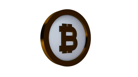 Rotating Bitcoin on a white background Footage