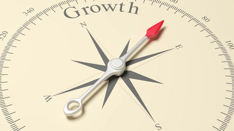 Compass Pointing to Growth Footage