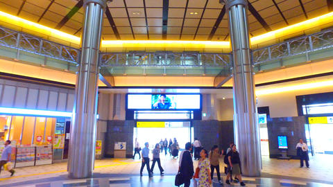 spin shot of Tokyo station Marunouchi entrance Live Action