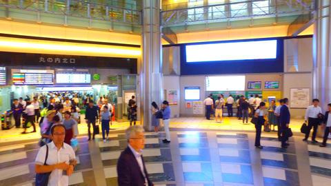 spin shot of Tokyo station Marunouchi entrance Footage