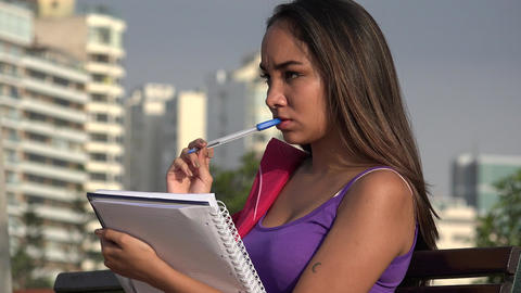 Female Teen Student Studying Live Action
