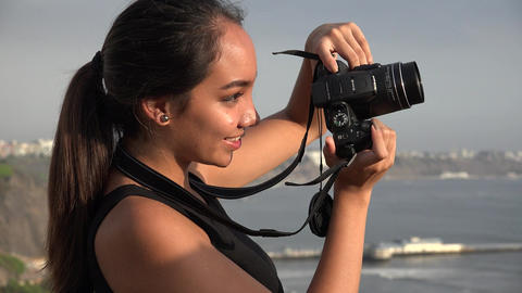 Teen Girl Photography Footage