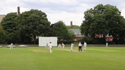 English cricket match in central London Chelsea London UK Footage