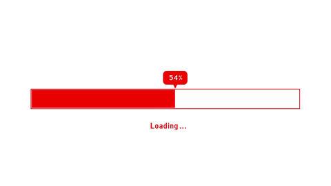 Loading bar, alpha channel CG動画素材