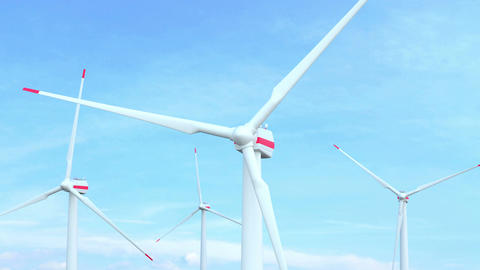 Wind Turbines Seamless Looping Footage