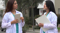 Female Nurses Or Doctors Talking Live Action