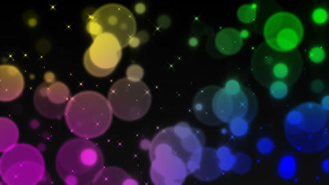 abstract particle glitter colorful 1 4 K CG動画
