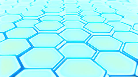 abstract hexagon blue P 2 Animation