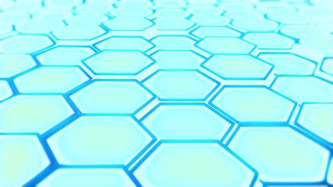 abstract hexagon blue P 2 Animation