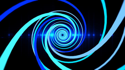 abstract tunnel blue light flare loop able CG動画素材
