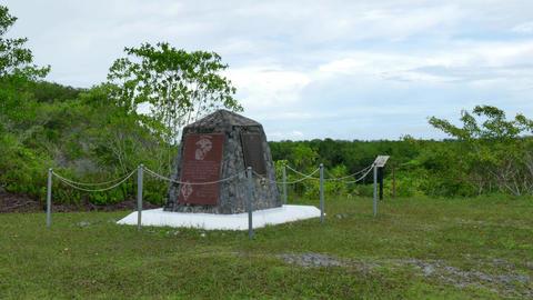 Marines Marine Corps US Memorial Peleliu War Military Cemetery Graveyard Footage