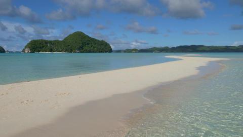 Sea Waves Tropics Tropical Waters Sand Beach Palau Pacific Ocean Footage