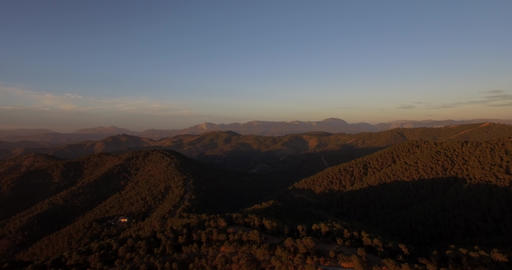 4K Aerial, Flying into sunset in Andalusia, Spain Footage