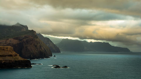 Sunrise Madeira stock footage