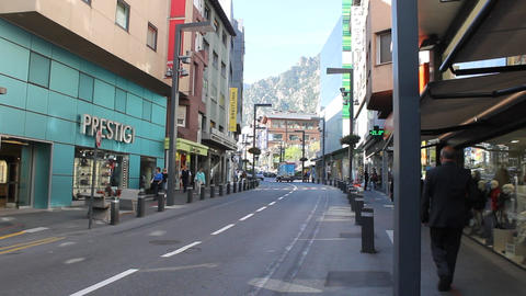 Street Of Andorra Footage
