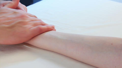 video of hand massage for young beauty woman in the… Stock Video Footage