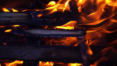 Close up fire slow motion shooting, 240 FPS Footage
