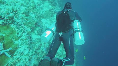 Scuba Diver underwater Footage