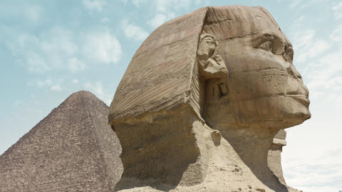 sphinx and the pyramids time lapse Footage