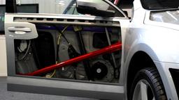 car door, light and bonnet - disassembled - look inside Footage