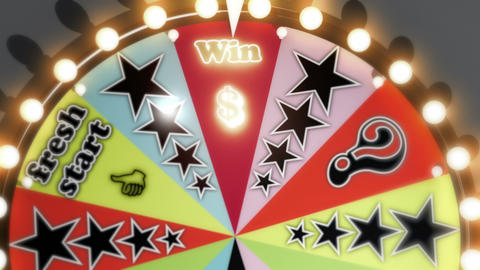 Win, Lose And Fresh Start Spinning Wheel Slots 4K stock footage