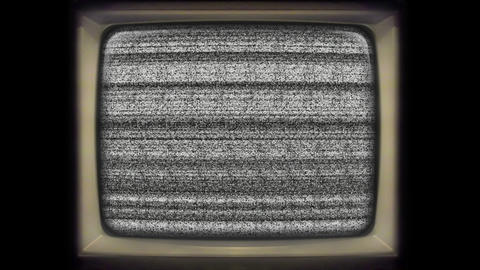 Old vintage tv static noise no signal Footage