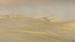 Sandstorm in Desert: Version #1 (Camera Motion Dolly) Animation