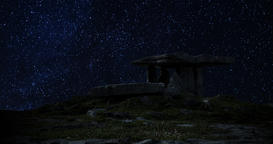 A 4K Night lapse of the famous Poulnabrone Dolmen in the Burren County Clare Footage