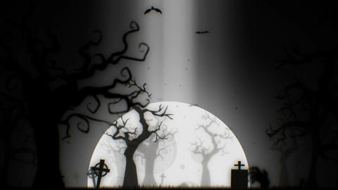 Halloween spooky animation background motion graphics footage (white theme) Animation