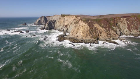 Aerial View Of Bodega Head, Pacific Coast, California Filmmaterial