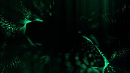 Green particles CG動画素材