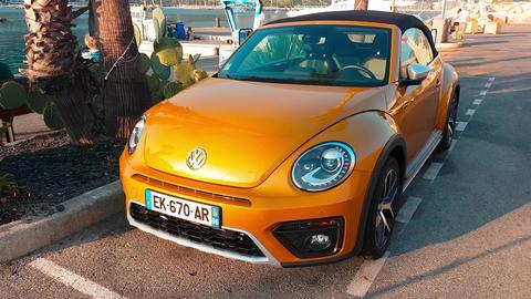 Volkswagen Beetle Dune Convertible Footage