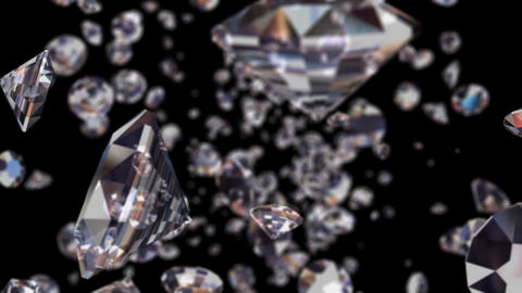 Realistic Diamonds, Loop CG動画素材
