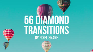 56 Diamond Offset Transitions Premiere Proテンプレート