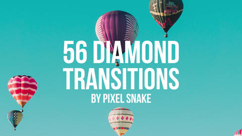 56 Diamond Offset Transitions Premiere Pro Template