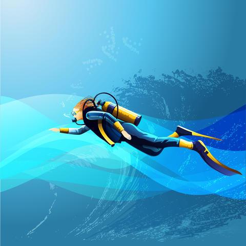 Scuba Diver Girl Fotografía