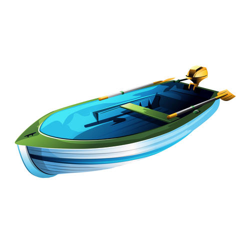 Rowing Boat Illustration Photo