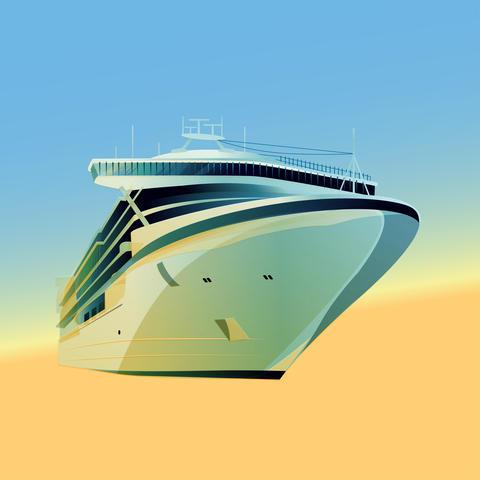 Ocean Liner Illustration Foto