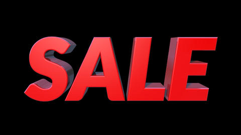 3D Sale Bounce Text 0