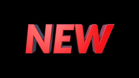 3D New Bounce Text 動畫