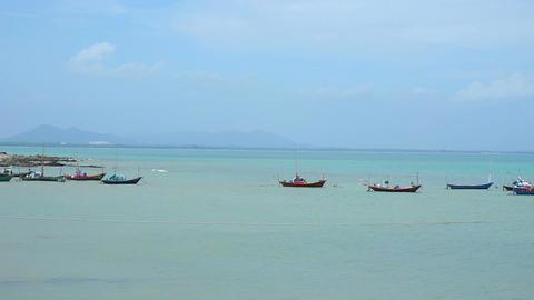 Fishing village & Boat at Chonburi, Thailand Footage