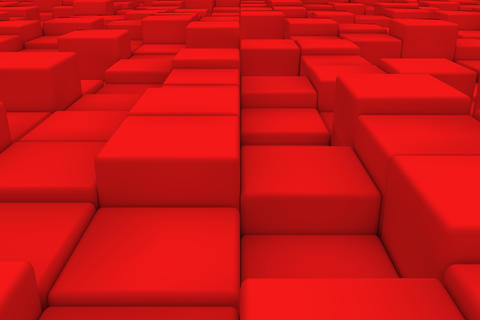 Diagonal surface made of red cubes Photo