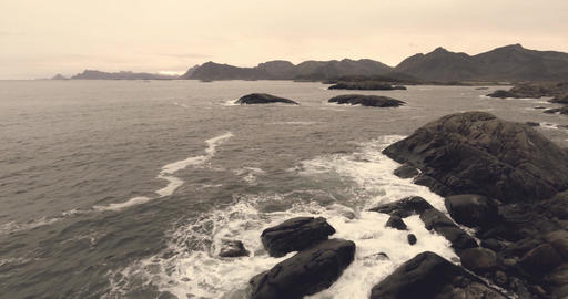 Fantastic nature landscape in Norway Lofoten Filmmaterial