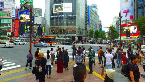 Station front of Shibuya in Tokyo Japan ビデオ