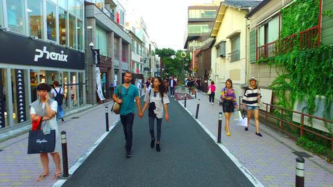 Cat Street in Harajuku Tokyo Japan Footage