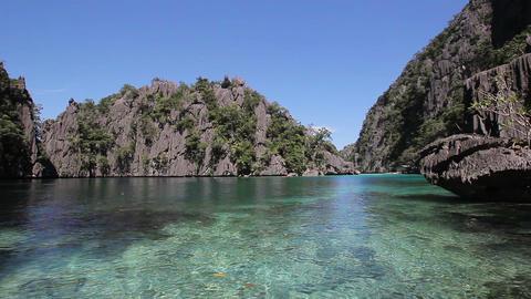 Beautiful tropical lagoon on a tropical island Stock Video Footage