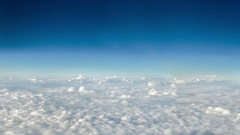 Moving Clouds and Deep Blue Sky Footage