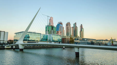 Puerto Madero Time Lapse Footage