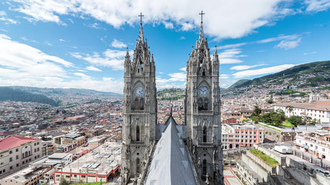 Quito Basilica Time Lapse Footage